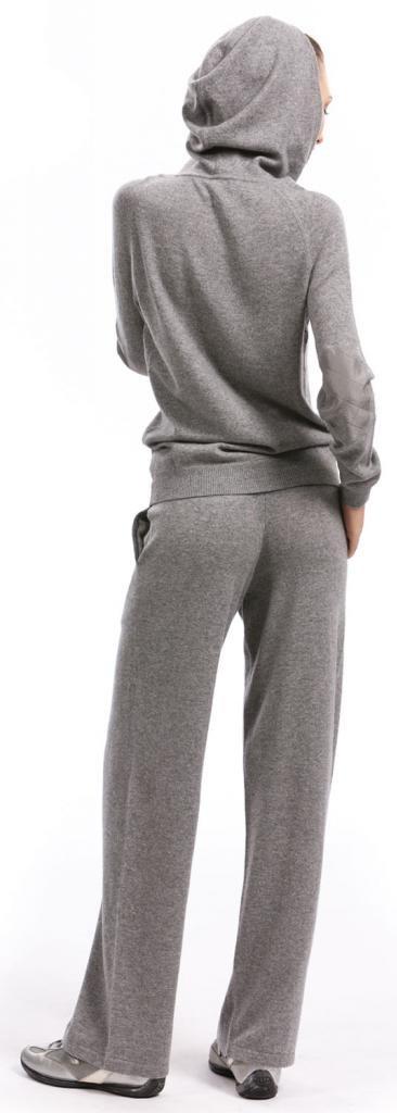 Lounge Pants - 100% Cashmere - by Citizen Cashmere (Large, Light Grey) by Citizen Cashmere (Image #3)