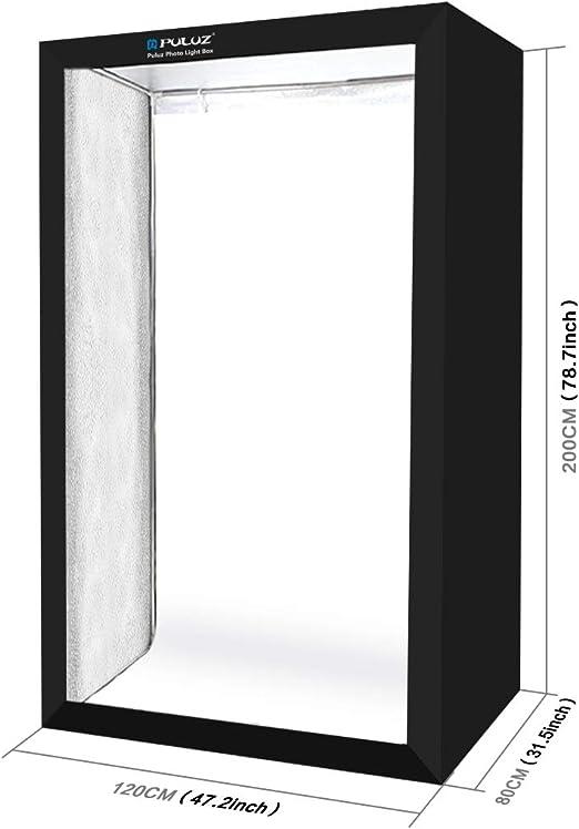 PULUZ 80cm Lightbox Photo Studio Softbox White Light Photo Lighting Studio Shooting Tent Box Kits /& Photography Backdrop