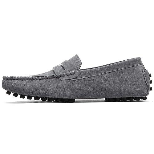 Zapatos para Hombre Mocasines de Ante en Piel Mocasines para Barcos Mocasines Casuales Zapatos Planos Zapatillas Casual/Diario Zapatos para Caminar/Zapatos ...