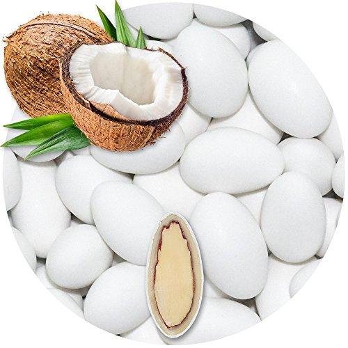 EinsSein 0,5kg Schokomandeln Kokos weiss matt Hochzeitsmandeln Mandeln Hochzeit Taufmandeln Gastgeschenke Zuckermandeln…