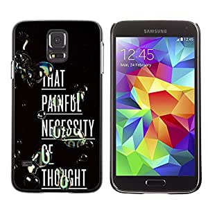 LECELL--Funda protectora / Cubierta / Piel For Samsung Galaxy S5 SM-G900 -- Painful Thought Deep Inspiring Text --
