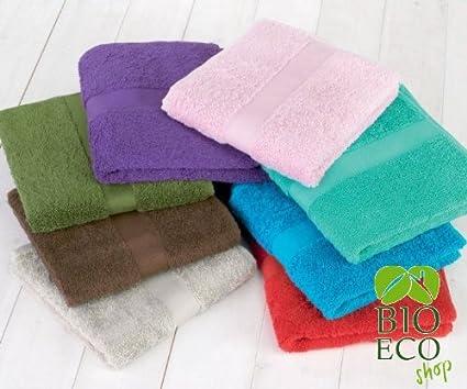 bioecoshop toallas de algodón orgánico 100% tela de rizo bioeco ct Mis 50 x 100