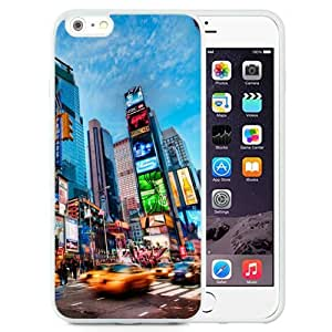 Beautiful Unique Designed iPhone 6 Plus 5.5 Inch Phone Case With Times Square New York_White Phone Case