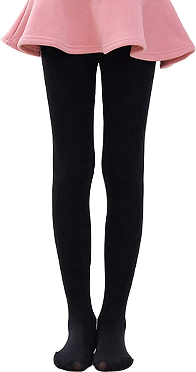 5 x 1 pack ladies 300 denier extra warm fleece lined thermal tights black