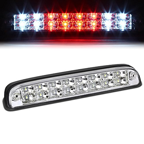 (For Ford Super Duty/Ranger/Mazda B-Series High Mount Dual Row LED 3rd Brake/Cargo Light (Chrome Housing))