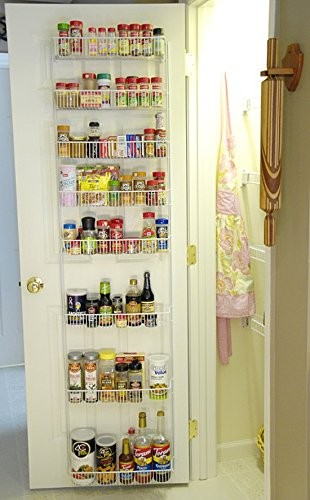 18 Inch Wide Adjustable Door Rack Pantry (Adjustable Pantry Shelves)