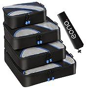 Amazon Brand – Eono Set mit 5 Packwürfel, 4 unterschiedliche Größen Packwürfel und 1 Wäschesack, Kleidertaschen…