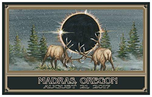 Eclipse Madras Idaho Giclee Travel Art Poster by Artist (24 x 36 inch) Art Print for Bedroom, Family Room, Kitchen, Dorm Room or Office Wall - Falls Idaho Mall Teton