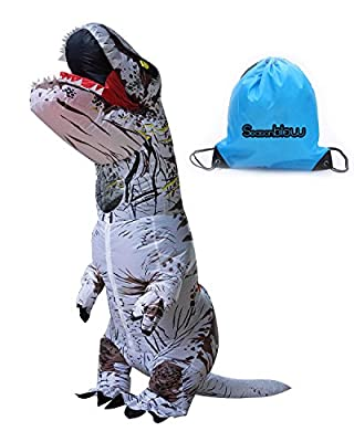 Adult Inflatable T-rex Costume Dinosaur Halloween Suit Cosplay Fantasy Costumes