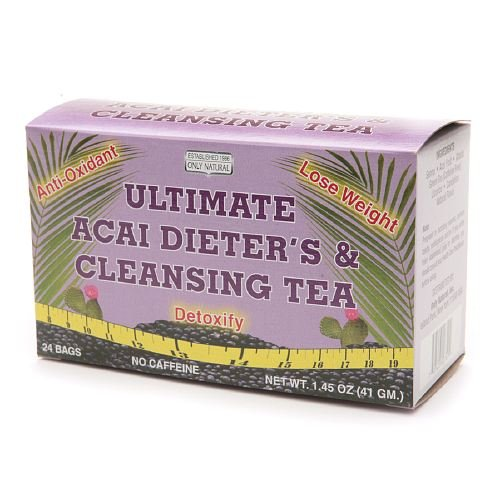 Ultimate Acai Dieter's & Cleansing Tea 24 Ea By Only Natural (Pack of 6)
