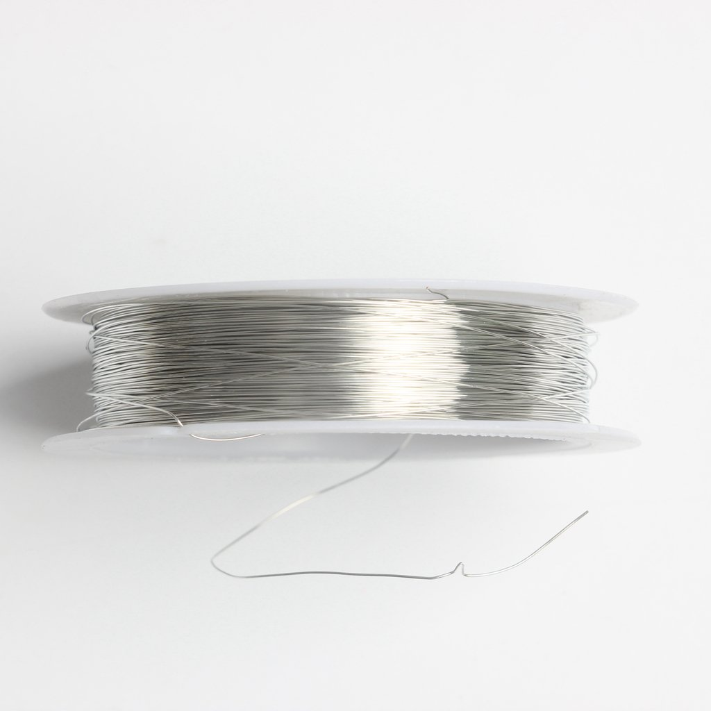 Sharplace 1 Roll of 22m Iron Wire Cord for Jewelry Making Crafts Flower Arranging 0.3mm Silver Gold Gold