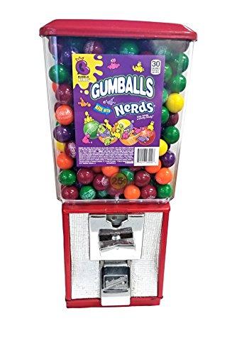 (Northwestern Super 60 Candy Filled Vending Machine: Wonka Nerds Gumballs - RED (USED))