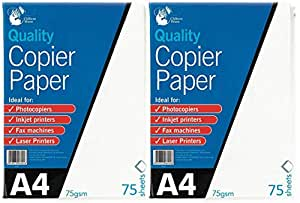 2 x A4 papel para fotocopiadora, 75 hojas, 75 g/m², impresora ...