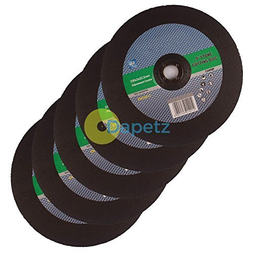 Dapetz ® Quality 230mm 9' Inch Metal Cutting Discs For Angle Grinder 10 Pack