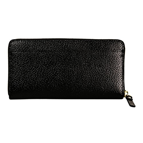 Kate Spade New York Grand Street Neda Black Leather Zip Around Wallet by Kate Spade New York