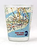 New York City Subway Map Shot Glass ctm