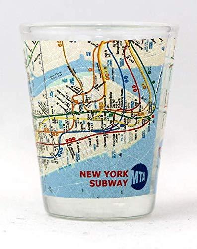 (New York City Subway Map Shot Glass ctm)