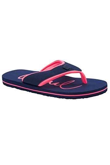 76db3e90fbc6 Image Unavailable. Image not available for. Color  Animal Mid Navy Blue Swish  Logo Womens Flip Flop ...