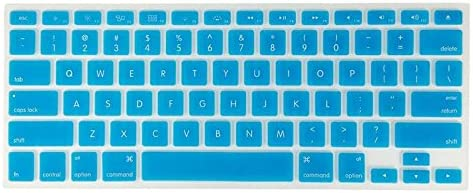 YoBest Silicone Keyboard Cover protector Skin for Apple Macbook Pro MAC 13 15 17-Blue