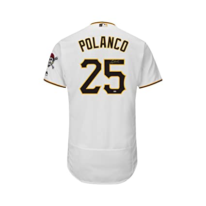 125b12adf Gregory Polanco Autographed Pirates Majestic Flex Base Authentic Jersey MLB