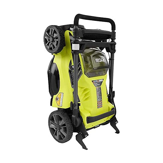 "Ryobi RY40180 40V Brushless Lithium-Ion Cordless Electric Mower Kit, with 5.0Ah Battery, 19.88"" x 40.748"" x 22.677"" 4 Grounds & Pool Supplies/Outdoor Power Equipment Made in: United States Dimensions: 19.88 X 40.748 X 22.677"