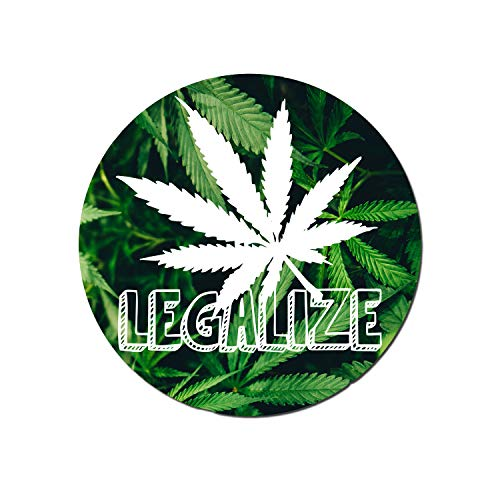Medical Marijuana Vinyl Decal Legalize It Weed Stickers Medical Cannabis Label Medical Marijuana Labels Pot Leaf Sticker Dab Stickers Cannabis Labels | Premium Quality | 4-Inch By 4-Inch | S006