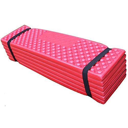 Dect Folding Camping Mat Picnic Seat Pad Sleeping Mat Waterproof Comfort Cusion for Outdoor Camping Hiking(Red)