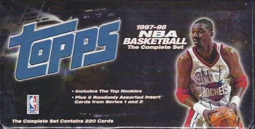 1997/98 97-98 Topps Basketball Factory Sealed Set 220 Cards TIM Duncan Rookie
