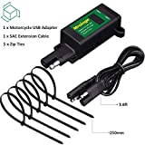 Mroinge 5V 4.8A Motorcycle USB Charger SAE to USB