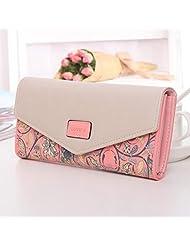 LING'S SHOP Womens Envelope Leather Wallet PU Card Holder Day Clutch Long Purse Handbag Bag