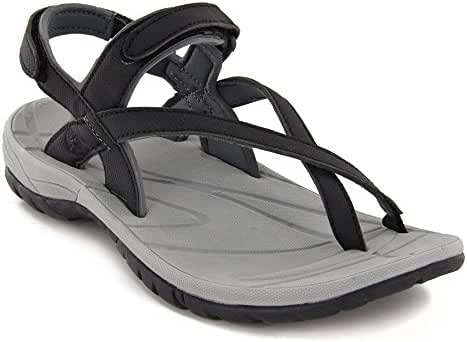 Northside Womens Corinne Sandal - Black/Gray - 9