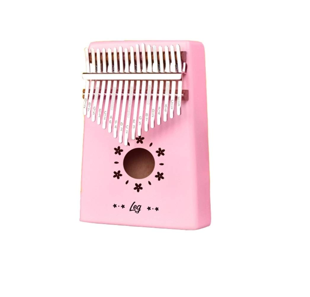 Qiyuezhuangshi Kalimba, vintage professional 17-tone thumb piano, suitable for beginners to play beginners Easy to use (Color : 4)