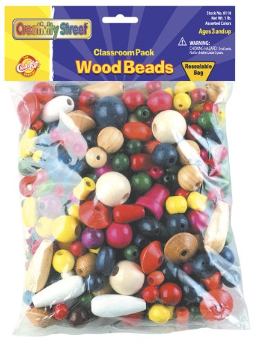 - Creativity Street Wood Beads, 1-lb. (AC6116)