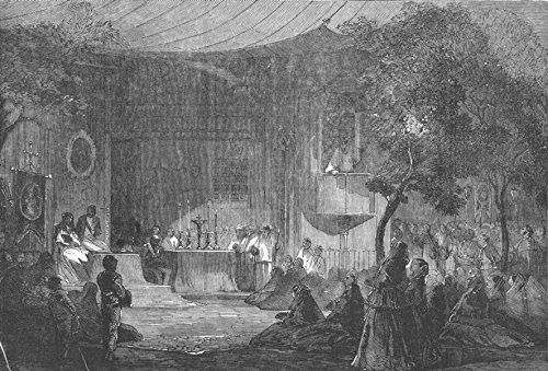 Old Antique Engraving - SPAIN. Spanish Scene - 1856 - old antique vintage print - engraving art picture prints of Spain Society - Illustrated London News