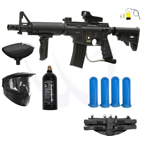 (Tippmann US Army Alpha Black Elite M-FDP Paintball Gun Starter Package)