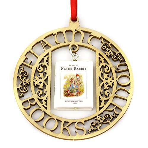 PETER RABBIT Beatrix Potter Clay Mini Book FRAMED Home Decor Ornament by Book Beads ()