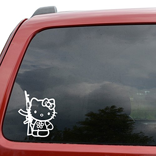 Hello Kitty AK Machine Gun Car Window Vinyl Decal Sticker- 6