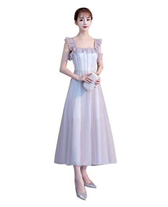 5f380b3d017e7 グレー レディースドレス 无袖 ショート丈 レース ステージ 衣装 結婚式 二次会ドレス 通勤 ウエディング