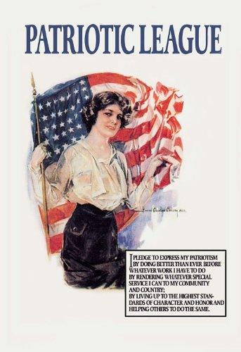 Patriotic League 32'' x 48'' Gallery Wrapped Canvas Wall Art by ArtsyCanvas (Image #1)
