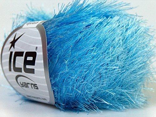 Light Blue Eyelash Yarn 50 Gram Ice 22779 (Blue Eyelash Yarn)