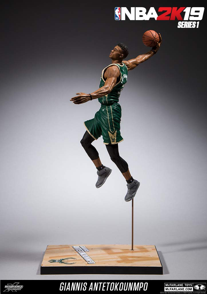 McFarlane Toys NBA 2K19 Milwaukee Bucks Giannis Antetokounmpo Series 1