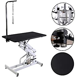 HPD 42.5'' x 23.6'' Z-Lift Hydraulic Pet Dog Adjustable Grooming Table W/Arm&Noose by Globe House Products