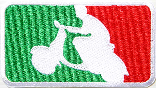 Vespa Scooter Mod Motorcycles Biker Racing Patch Iron on Sewing Embroidered Applique Logo Badge Sign Embelm Art Craft Decorative Gift