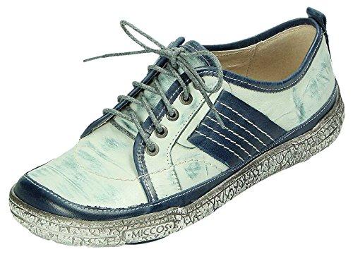 komb de azul smog MICCOS para Zapatos cordones smog komb mujer 1wzZq5Wf