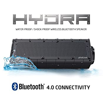Photive Hydra Portable Bluetooth Speaker With Enhanced Bass. Waterproof Rugged Portable Speaker For Home, Travel & Outdoors 6