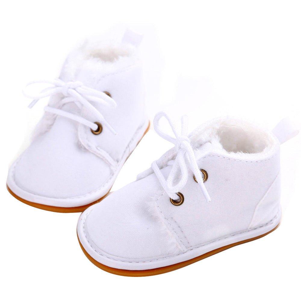 YanHoo Zapatos para niños Bebé niño pequeño Botas de Nieve para niños Zapatos Suela de Goma Prewalker Zapatos de Cuna Zapatos de Goma para niños pequeños ...
