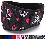 Fitplicity Weight Lifting Belt (Pink Skulls, X-Small)