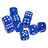 MonkeyJack Pack of 10 Dark Blue Six Sided D6 Dice for Playing D&D Warhammer RPG Board Game Favours