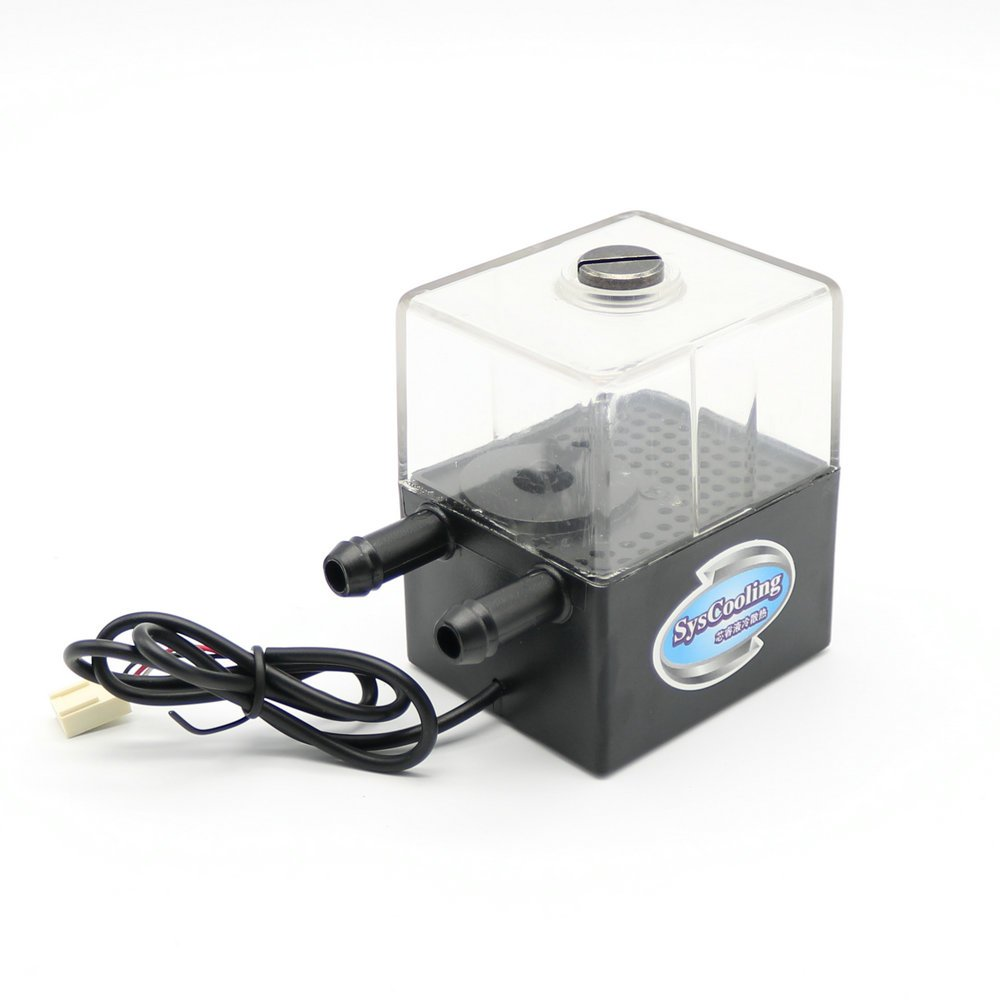 12V DC Liquid Water Cooled Brushless Pump Tank For CPU CO2 Laser Water Cooling