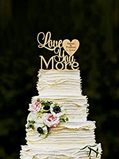 Amazon love you more wedding cake toppers rustic wood love you more wedding cake topper personalized wood cake topper custom wedding topper unique cake toppers junglespirit Images